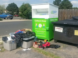 Collection bins bringing in debris and fines