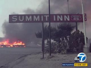 Fire destroys Route 66 diner