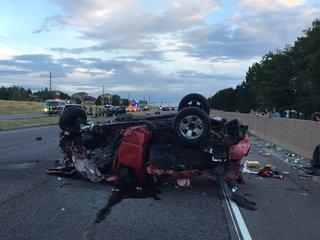 Driver killed, 7 hurt in Parker multi-car crash