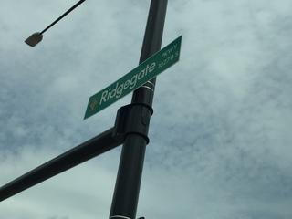 Debate on spelling RidgeGate leads to new signs