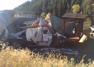 Semi crashes into Bailey winery