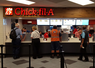 Despite controversy, Chick-fil-A opens at DIA