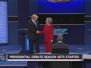 Candidates stick to message during first debate