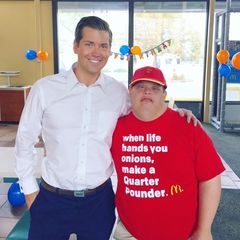 McDonald's celebrates special needs worker