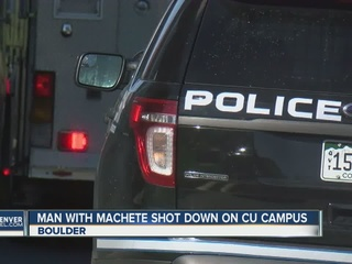 Police kill man wielding machete at CU Boulder