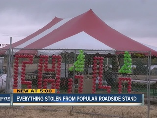 Popular roadside business targeted by thieves