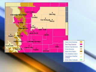 Critical fire weather conditions across Colorado