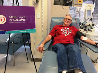 Arvada man donates 70 gallons of blood