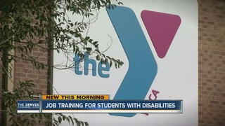 Students with disabilities work as interns