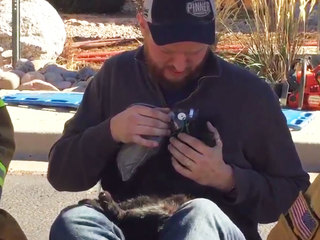 1 dog, 2 cats rescued, given oxygen after fire