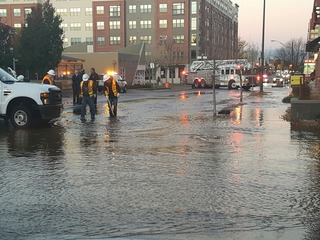 6th Ave. closed, 126-year old water pipe broke
