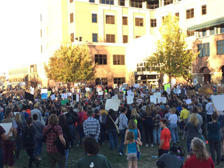 Peaceful anti-Trump rally in Fort Collins