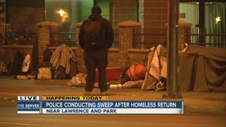 Denver homeless remain after downtown sweep