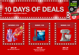 Target's 10 days of deals underway