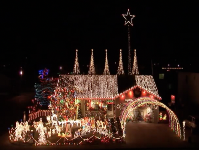 clark griswold has competition this year with greeley grizwalds lighting display - Clark Griswold Christmas Decorations