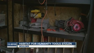Tools stolen from Habitat for Humanity site