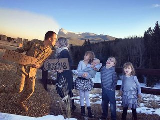 CO military family in viral Xmas card reunited