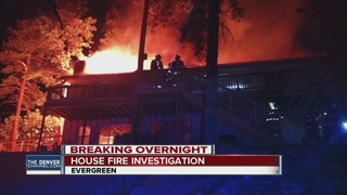 Fire damages home in Evergreen