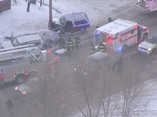 Chilly morning leads to crashes across Denver