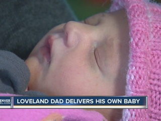 Dad helps mom deliver baby at home