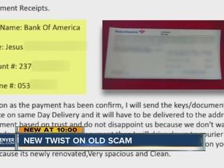Scammer uses odd twist in old Craiglist scam