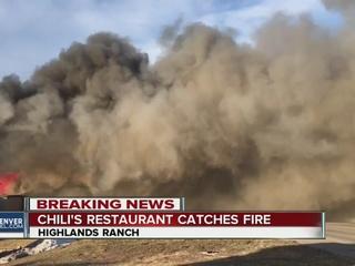 Blaze at Highlands Ranch Chili's halts traffic