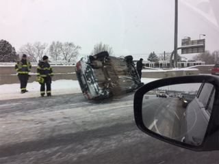 Rescues, crashes and delays after snowstorm