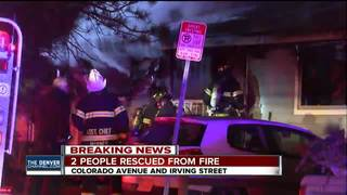 2 people rescued from house fire