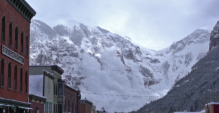 VIDEO: Avalanche seen from downtown Telluride