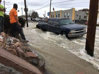 Water main break shuts down roads in Denver