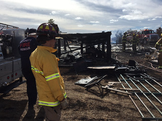Byers fire: Barn, camper burn to the ground