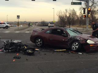 Motorcyclist seriously injured in Aurora crash
