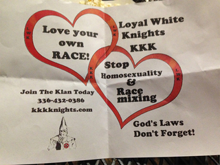 Ku Klux Klan fliers handed out in Grand Junction