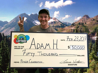 Homeless man wins $50,000 from scratch ticket