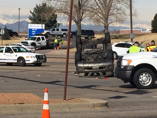 1 dead in 2-vehicle rollover crash in Thornton