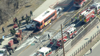 RTD bus involved in multi-vehicle crash