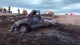 Chase ends in fiery head-on crash on I-76