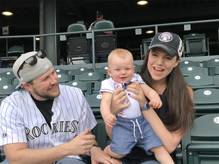 Baby Rockies fan celebrates 1st home opener