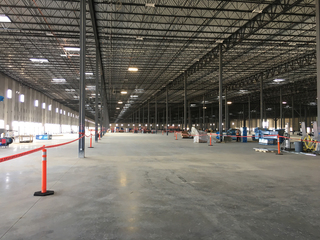 Inside the new Amazon facility in Aurora