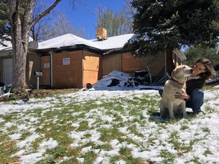 First fire, now snow adding to damaged home