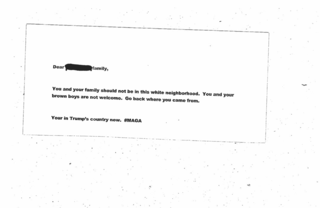 Police investigate racist letter sent to family