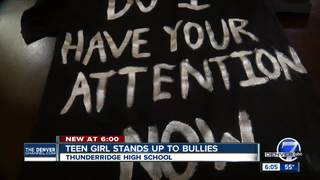Teen wants to end bullying in her high school