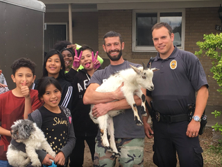 Lakewood kids capture elusive goat