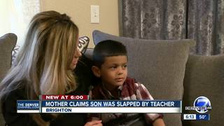 Brighton mom says son slapped by teacher