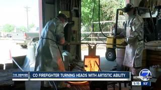 Firefighter creates larger than life sculptures