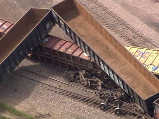 Train derails in Boulder; evax being lifted