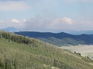 392 Fire continues to burn in Park County