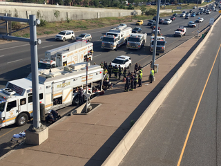 Man stuck in storm drain under I-25 rescued