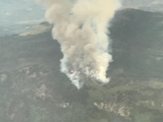 Gutzler Fire burning southwest of Kremmling
