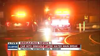 Sinkhole closes National Western Drive